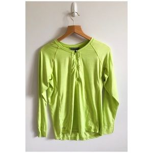 Athleta Pacifica UPF 50+ Top Size L Lime Green